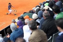 April 30, 2018 - Estoril, Portugal - Pedro Sousa of Portugal returns a ball to Gilles Simon of France during the Millennium Estoril Open ATP 250 tennis tournament - round 1, at the Clube de Tenis do Estoril in Estoril, Portugal on April 30, 2018. (Credit Image: © Pedro Fiuza/NurPhoto via ZUMA Press)