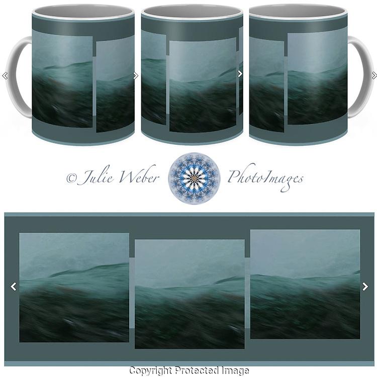 Coffee Mug Showcase 3 - Shop here:  https://2-julie-weber.pixels.com/products/aquascape-triptych-julie-weber-coffee-mug.html