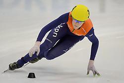 17-01-2014 SHORTTRACK: ISU EUROPEAN CHAMPIONSHIPS: DRESDEN<br /> In het EnergieVerbund Arena wordt het EK Shorttrack gehouden / Jorien ter Mors (NED) wordt Europees Kampioen op de 1500 meter. <br /> ©2014-FotoHoogendoorn.nl