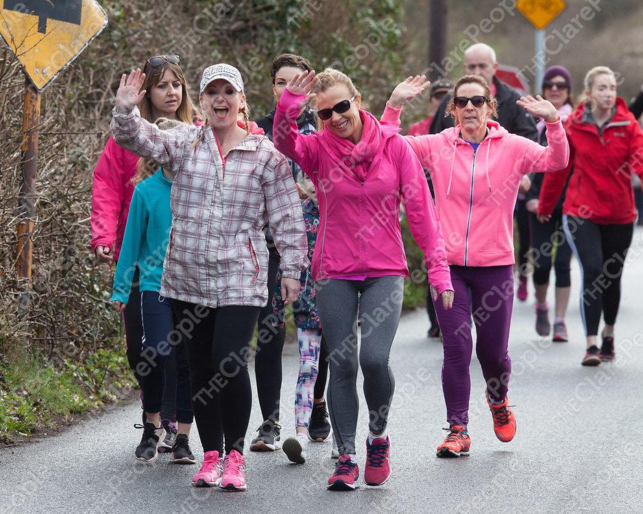 Participants taking part in the 'Go Pink for Maxine' Memorial 5K Run/Walk on Saturday