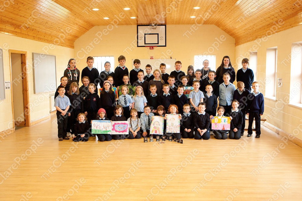 Winners in the Faile na Hincha 2012  in Mullagh National School Mullagh Co.Clare.<br /> Pictured Credit Brian Gavin Press 22