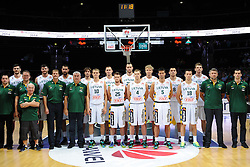 Team Lithuania during friendly match between National Teams of Lithuania and New Zealand before World Championship Spain 2014 on August 17, 2014 in Kaunas, Lithuania. Photo by Robertas Dackus / Sportida.com