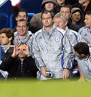 Photo: Olly Greenwood.<br />Chelsea v Arsenal. The Barclays Premiership. 10/12/2006. Chelsea manager Jose Mourinho ask's if the referee has put on his glasses