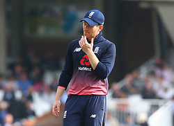 September 27, 2017 - London, England, United Kingdom - England's Eoin Morgan .during One Day International Series match between England and West Indies at The Kia Oval, London  on 27 Sept , 2017  (Credit Image: © Kieran Galvin/NurPhoto via ZUMA Press)