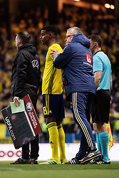 March 23, 2019 - Stockholm, SWEDEN - 190323 Alexander Isak and head coach Janne Andersson during the UEFA Euro Qualifier football match between Sweden and Romania on March 23, 2019 in Stockholm..Photo: Joel Marklund / BILDBYRÃ…N / kod JM / 87914 (Credit Image: © Joel Marklund/Bildbyran via ZUMA Press)