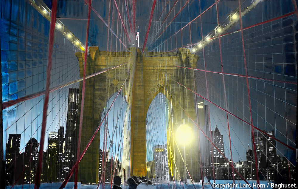 NYC in Colors.  Horn/Andersen<br /> Trapped in Brooklyn Bridge130x200Kr.   25.000,-<br /> Foto: © Lars Horn / Baghuset<br /> Date : 16.06.13