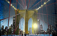 NYC in Colors.  Horn/Andersen<br /> Trapped in Brooklyn Bridge	130x200	Kr.   25.000,-<br /> Foto: © Lars Horn / Baghuset<br /> Date : 16.06.13