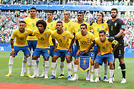 Team of Brazil before the 2018 FIFA World Cup Russia, round of 16 football match between Brazil and Mexico on July 2, 2018 at Samara Arena in Samara, Russia - Photo Thiago Bernardes / FramePhoto / ProSportsImages / DPPI