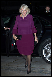 October 25, 2016 - London, United Kingdom - Image licensed to i-Images Picture Agency. 25/10/2016. London, United Kingdom. The Duchess of Cornwall arriving to present the 2016 Man Booker Prize at a reception and dinner at he Guildhall in London.  Picture by Stephen Lock / i-Images (Credit Image: © Stephen Lock/i-Images via ZUMA Wire)