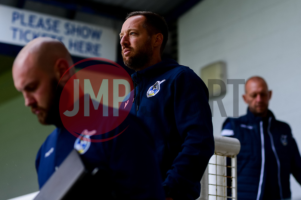 Bristol Rovers manager Ben Garner prior to kick off - Mandatory by-line: Ryan Hiscott/JMP - 28/08/2020 - FOOTBALL - Memorial Stadium - Bristol, England - Bristol Rovers v Cardiff City - Pre Season Friendly