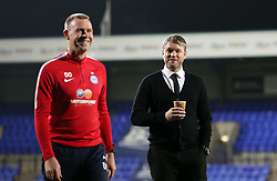 Peterborough United Manager Grant McCann smiles with Assistant Manager David Oldfield before the game - Mandatory by-line: Joe Dent/JMP - 15/11/2017 - FOOTBALL - Prenton Park - Birkenhead, England - Tranmere Rovers v Peterborough United - Emirates FA Cup first round replay