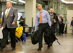 Jan 20, 2018; Morgantown, WV, USA; Texas Longhorns head coach Shaka Smart arrives prior to their game against the West Virginia Mountaineers at WVU Coliseum. Mandatory Credit: Ben Queen-USA TODAY Sports