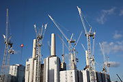 Redevelopment of Battersea Power Station and its surroundings on 8th January 2019 in London, England, United Kingdom. Battersea Power Station is a decommissioned coal-fired power station located on the south bank of the River Thames, in Nine Elms, Battersea, an inner-city district of South West London. Now a construction site and under development, the site will become both residential and commercial.