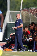 24 May 2014: U.S. coach Brian Bliss. The Under-20 United States Men's National Team played a scrimmage against the Wilmington Hammerheads at Dail Soccer Field in Raleigh, North Carolina. Wilmington won the game 4-2.