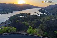 Sunrise over the Columbia River in Rowena, Oregon, USA
