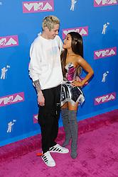 August 21, 2018 - New York City, New York, USA - 8/20/18.Pete Davidson and Ariana Grande at the 2018 MTV Video Music Awards at Radio City Music Hall in New York City. (Credit Image: © Starmax/Newscom via ZUMA Press)