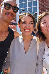 June 30, 2018 - New York City, New York, US - Alexandria Ocasio-Cortez, democratic primary winner who defeated powerful US Congressman Joe Crowley (D-NY)  in the New York democratic primary on 26th. June, 2018 was a crowd favorite at the #FamiliesBelongTogether rally and march. The End Family Separation NYC Rally and March is one of several similar #FamiliesBelongTogether protest events taking place across the U.S. this weekend, 30th. June, 2018. This Queens, New York march and rally, took place in the most ethnically diverse neighborhood  of the city in Jackson Heights and drew hundreds of passionate activist and protesters. (Credit Image: © G. Ronald Lopez via ZUMA Wire)