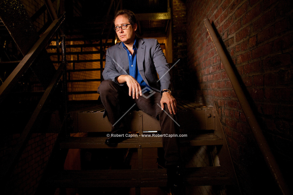 """James Spader poses for a portrait inside Ethel Barrymore Theatre where he will be preforming in David Mamet's new play """"Race."""" (Photo by Robert Caplin).."""