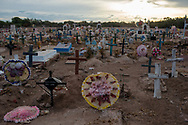 Vicam, Sonora. Mexico: cemetery, Yaqui reserved land.