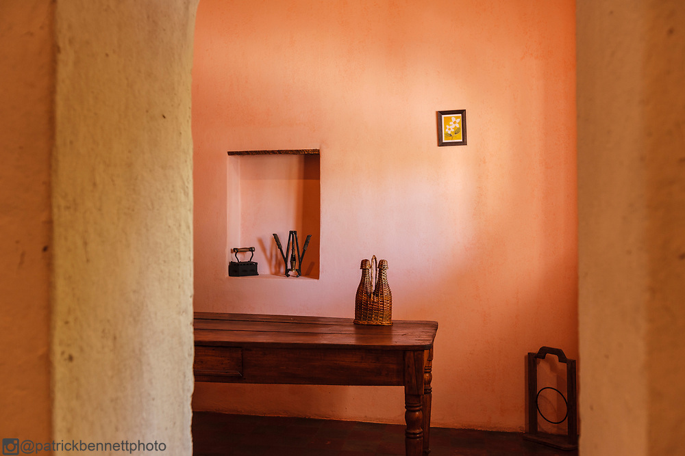 The winetasting room at the Bodega Cecchin in Maipu, Mendoza, Argentina.