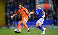 Blackpool's Liam Feeney vies for possession with Ipswich Town's Danny Rowe<br /> <br /> Photographer Chris Vaughan/CameraSport<br /> <br /> The EFL Sky Bet League One - Ipswich Town v Blackpool - Saturday 23rd November 2019 - Portman Road - Ipswich<br /> <br /> World Copyright © 2019 CameraSport. All rights reserved. 43 Linden Ave. Countesthorpe. Leicester. England. LE8 5PG - Tel: +44 (0) 116 277 4147 - admin@camerasport.com - www.camerasport.com