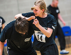 P1's continue to attack at the grading. Franklyn Hartkamp takes the Institute Of Krav Maga Scotland grading today at Stirling.<br /> ©Michael Schofield.