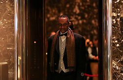 A doorman, in the lobby of the Trump Tower, while President elect Donald Trump is holding meetings on top floors of the building, November 21, 2016, in New York, NY. (Aude Guerrucci / Pool)