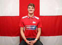 Team England's James Wilby poses for a photo during the kitting out session at Kukri Sports HQ, Preston.