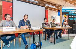31.01.2020, Seefeld, AUT, KVÖ, Präsentation IFSC Austria Climbing Open 2020 Innsbruck, Pressekonferenz, im Bild v.l. Florian Phleps (Geschaeftsfuehrer Tirol Werbung), Heiko Wilhelm KVOE Geschaeftsfuehrer, Karin Seiler Direktorin Innsbruck Tourismus, Jakob Schubert KVOE Nationalteam // f.l. Florian Phleps Managing Director Tirol advertising Heiko Wilhelm Managing Director KVOE Karin Seiler Director Innsbruck Tourism and Jakob Schubert KVOE national team during a press conference of Austrian Climbing Association for the Presentation IFSC Austria Climbing Open 2020 Innsbruck in Seefeld, Austria on 2020/01/31. EXPA Pictures © 2020, PhotoCredit: EXPA/ Stefan Adelsberger