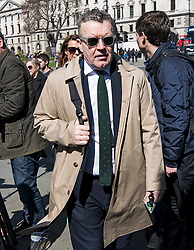© Licensed to London News Pictures. 10/04/2019. London, UK. Labour Party Deputy Leader TOM WATSON is seen arriving at Parliament in Westminster. British Prime Minister THERESA MAY will travel to an EU summit later today where she hopes to negotiate an extension to the date the UK will leave the EU. Photo credit: Ben Cawthra/LNP