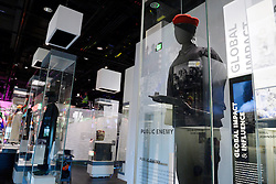 Public Enemy outfits is on display in the Smithsonian National Museum of African American History and Culture on September 21, 2016 in Washington, DC.The National Museum of African American History and Culture will open on Sept. 24 in Washington thirteen years since Congress and President George W. Bush authorized its construction, the 400,000-square-foot building stands on a five-acre site on the National Mall, close to the Washington Monument. President Obama will speak at its opening dedication.Photo by Olivier Douliery/Abaca