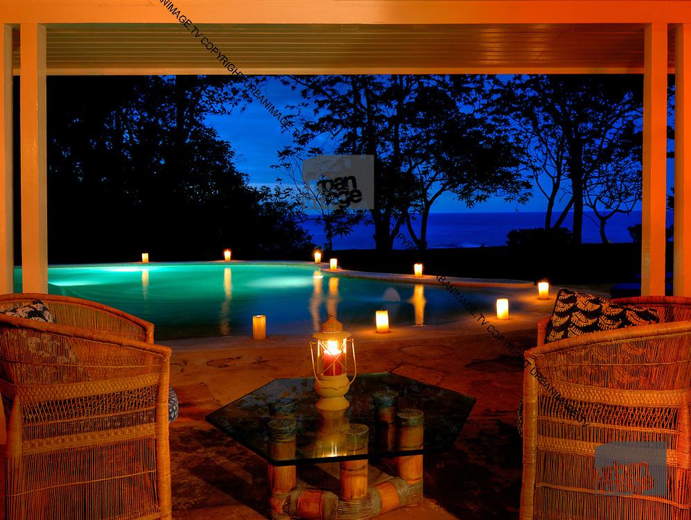 Evening by the Pool - Goldeneye Jamaica