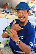 Charlie Kahoalii, Hilo Farmer's Market, Hilo, Island of Hawaii