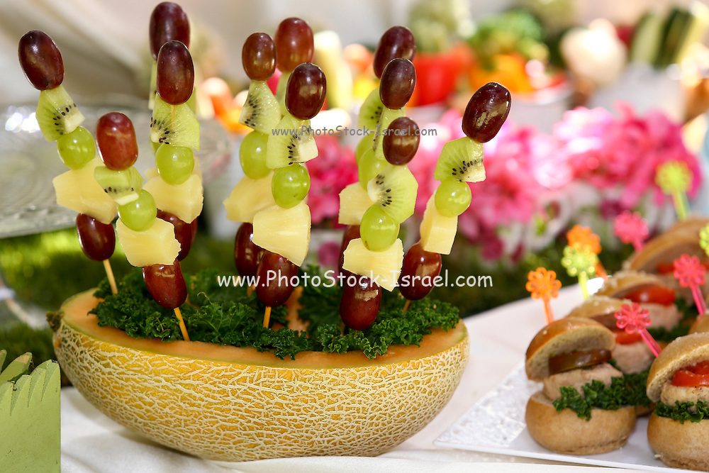 healthy fruit skewer snacks This image has a restriction for licensing in Israel