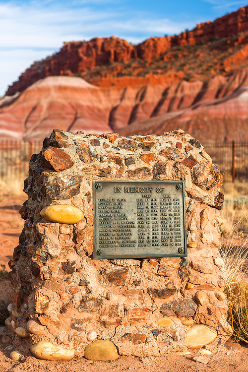 Tombstones at the Paria (Pahreah) pioneer cemetery, Grand Staircase-Escalante National Monument, Utah USA