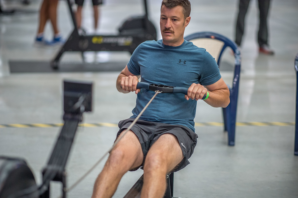 Robert Dunne MALE HEAVYWEIGHT Novice OPEN 2K Race #6  09:45am<br /> <br /> <br /> www.rowingcelebration.com Competing on Concept 2 ergometers at the 2018 NZ Indoor Rowing Championships. Avanti Drome, Cambridge,  Saturday 24 November 2018 © Copyright photo Steve McArthur / @RowingCelebration