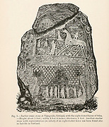 Earlier runic stone at Tjangvide, Gotland, with the eight-footed horse of Odin from the book '  The viking age: the early history, manners, and customs of the ancestors of the English speaking nations ' by Du Chaillu, (Paul Belloni), 1835-1903 Publication date 1889 by C. Scribner's sons in New York,