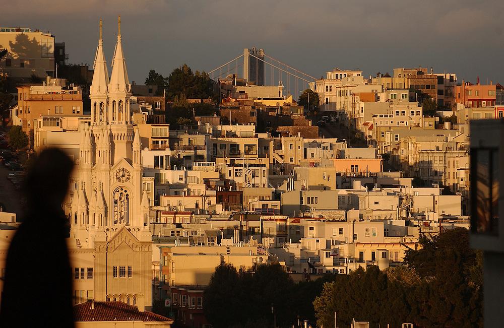 SAN FRANCISCO, CA: Coit Tower and Telegraph Hill in San Francisco, California. Photograph by David Paul Morris