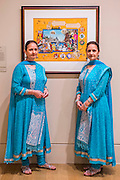 Artists, The Singh Twins with their work EnTWINed 2009 - Artist and Empire - a new Tate Britain exhibition about Imperial visual culture, examining the people who helped to create or confront the British Empire in their art. It features over 200 paintings, drawings, photographs, sculptures and artefacts from across the British Isles, North America, the Caribbean, the Pacific, Asia and Africa. Exhibition highlights include: Major historic paintings by the likes of Johan Zoffany, George Stubbs, Lady Butler Anthony Van Dyck and Thomas Daniell; Rare Maori portraits which are being exhibited in London for the first time in almost 100 years; The first chance to photograph one of the nation's favourite paintings, The North-West Passage 1874 by John Everett Millais since undergoing new conservation; and new work by artist Andrew Gilbert, made especially for the exhibition. Artist and Empire at Tate Britain from 25 November 2015 to 10 April 2016.