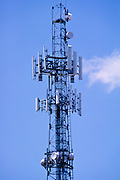 GSM and CDMA cellsite antenna array for the cellular telephone system on a tower - Brisbane, Australia <br />