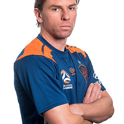 BRISBANE, AUSTRALIA - SEPTEMBER 16: Brett Holman poses for a photo During a Hyundai A-League Brisbane Roar headshot photo session on September 16, 2017 in Brisbane, Australia. (Photo by Brisbane Roar / Patrick Kearney)