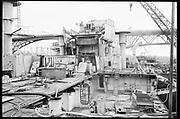 """Ackroyd 19047-R2-09  """"Zidell Exploration. Rochester Museum & Science Center"""" """"Scrapping USS Rochester. October 8, 1974"""""""