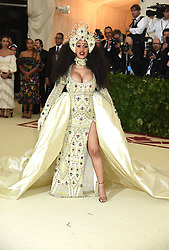 Cardi B attend the Costume Institute Benefit at the Metropolitin Museum of Art at the opening of Heavenly Bodies: Fashion and the Catholic Imagination on May 7, 2018 in New York, New York, USA.