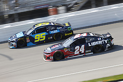 August 12, 2018 - Brooklyn, Michigan, United States of America - Kasey Kahne (95) and William Byron (24) battle for position during the Consumers Energy 400 at Michigan International Speedway in Brooklyn, Michigan. (Credit Image: © Chris Owens Asp Inc/ASP via ZUMA Wire)