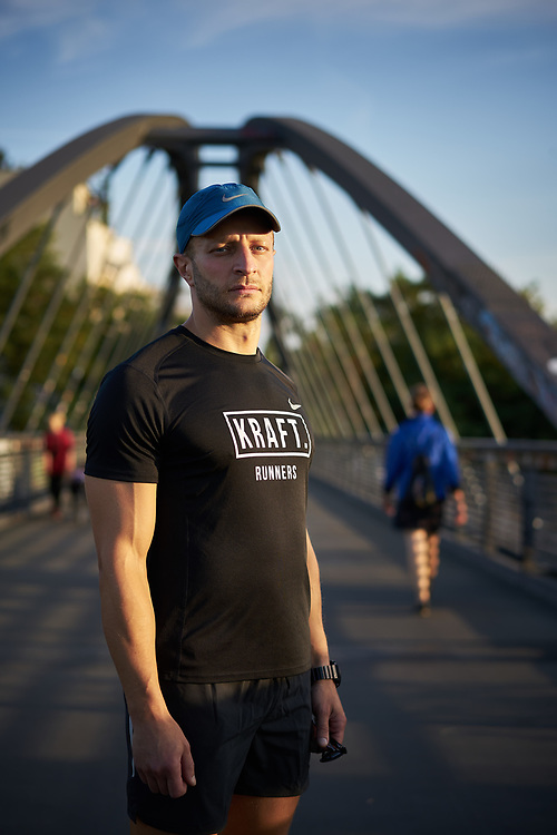 Germany, Berlin, 2018/09/04<br /> <br /> Rabbi Shlomo Afanasev is portrayed before running with KRAFT RUNNERS in Berlin on 04/09/2018. (Photo by Gregor Zielke)
