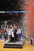 DESCRIZIONE : Milano Final Eight Coppa Italia 2014 Finale Montepaschi Siena - Dinamo Banco di Sardegna Sassari<br /> GIOCATORE : Team<br /> CATEGORIA : Esultanza Coppa Premio Award Premiazione<br /> SQUADRA : Dinamo Banco di Sardegna Sassari<br /> EVENTO : Final Eight Coppa Italia 2014 Milano<br /> GARA : Montepaschi Siena - Dinamo Banco di Sardegna Sassari<br /> DATA : 09/02/2014<br /> SPORT : Pallacanestro <br /> AUTORE : Agenzia Ciamillo-Castoria / Luigi Canu<br /> Galleria : Final Eight Coppa Italia 2014 Milano<br /> Fotonotizia : Milano Final Eight Coppa Italia 2014 Finale Montepaschi Siena - Dinamo Banco di Sardegna Sassari<br /> Predefinita :