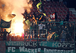 08.02.2014, Woerthersee-Stadion, Klagenfurt, AUT, 1. FBL, RZ Pellets WAC  vs FC Wacker Innsbruck, 22. Runde, im Bild die Innsbruck Fans //  during Austrian Football Bundesliga Match, 22. Round, between RZ Pellets WAC vs FC Wacker Innsbruck at the Woerthersee Stadium Klagenfurt, Austria on 2014/02/08. EXPA Pictures © 2014, PhotoCredit: EXPA/ Oskar Hoeher