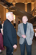 MICHAEL CRAIG-MARTIN; WILLIAM TURNBULL, Tate Summer Party. Celebrating the opening of the  Fiona Banner. Harrier and Jaguar. Tate Britain. Annual Duveens Commission 29 June 2010. -DO NOT ARCHIVE-© Copyright Photograph by Dafydd Jones. 248 Clapham Rd. London SW9 0PZ. Tel 0207 820 0771. www.dafjones.com.