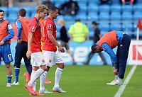 Fotball <br /> UEFA Euro 2016 Qualifying Competition<br /> 12.06.2015<br /> Norge v Aserbajdsjan / Norway v Aserbajdsjan<br /> Foto: Morten Olsen/Digitalsport<br /> <br /> Martin Ødegaard (L) - Omar Elabdellaoui (R) - NOR