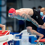 TOKYO, JAPAN - JULY 25: Adam Peaty of Great Britain in action in the 100m breaststroke semi finals during the Swimming Finals at the Tokyo Aquatic Centre at the Tokyo 2020 Summer Olympic Games on July 25, 2021 in Tokyo, Japan. (Photo by Tim Clayton/Corbis via Getty Images)